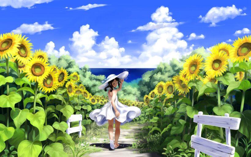 anime hoa hướng dương