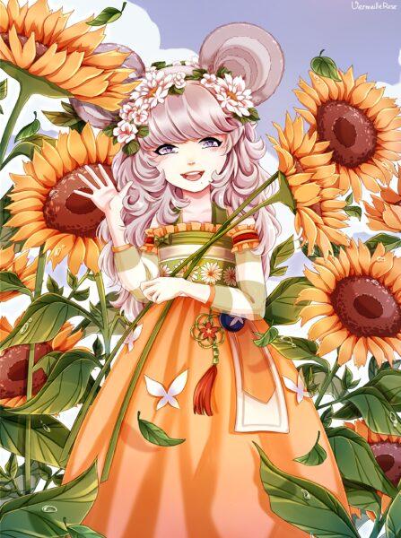 Anime hoa hướng dương tuyệt đẹp