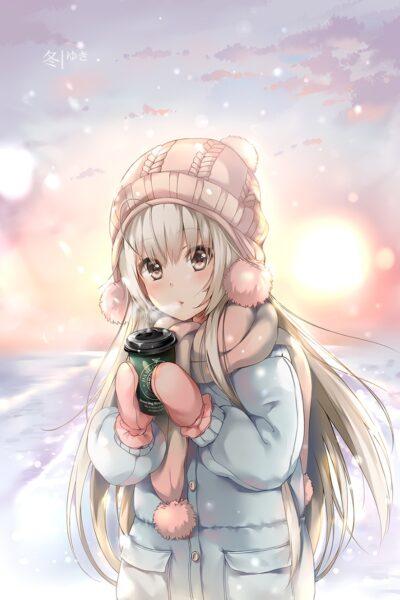 Cô bé anime mùa đông dễ thương nhất
