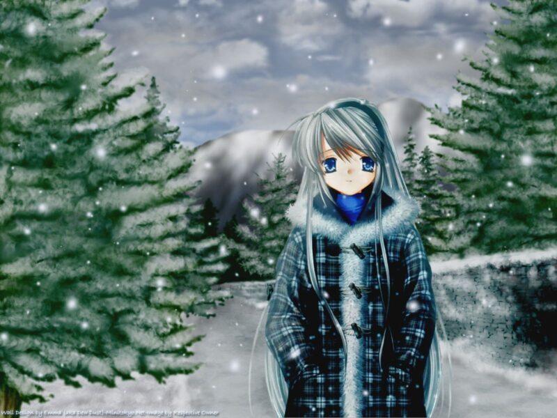 Cô gái anime mùa đông đẹp