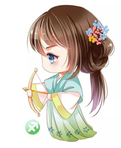 Cung Nhân Mã anime chibi dễ thương