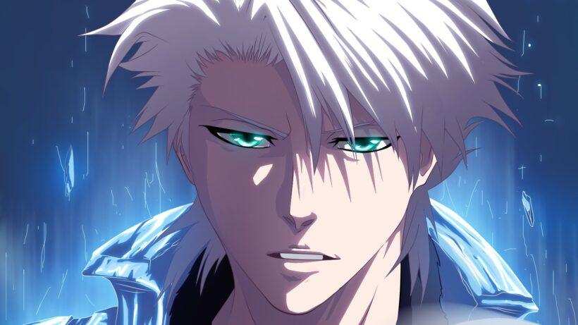Hình ảnh anh chàng anime tóc bạch kim, mắt xanh cực ngầu