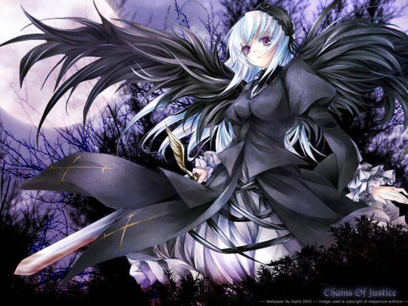 Hình ảnh anime ác quỷ cầm kiếm