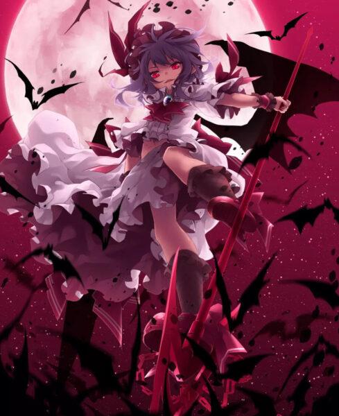 Hình ảnh anime ác quỷ mắt đỏ - Copy