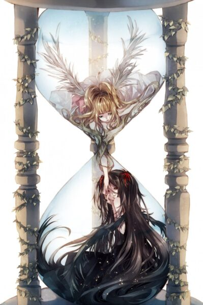 Hình ảnh anime ác quỷ và thiên thần - Copy