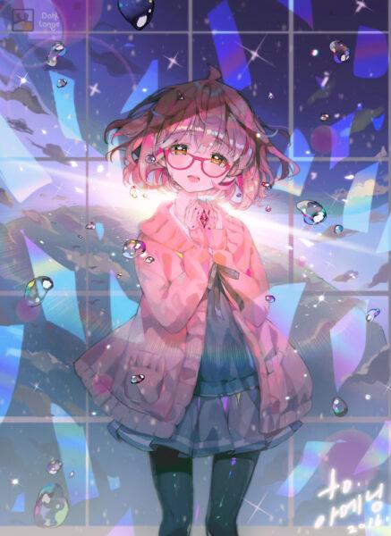 Hình ảnh anime girl đeo kính