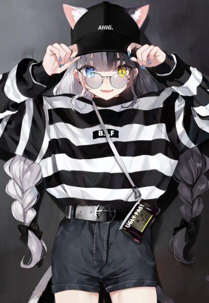 Hình ảnh anime girl đeo kính cool