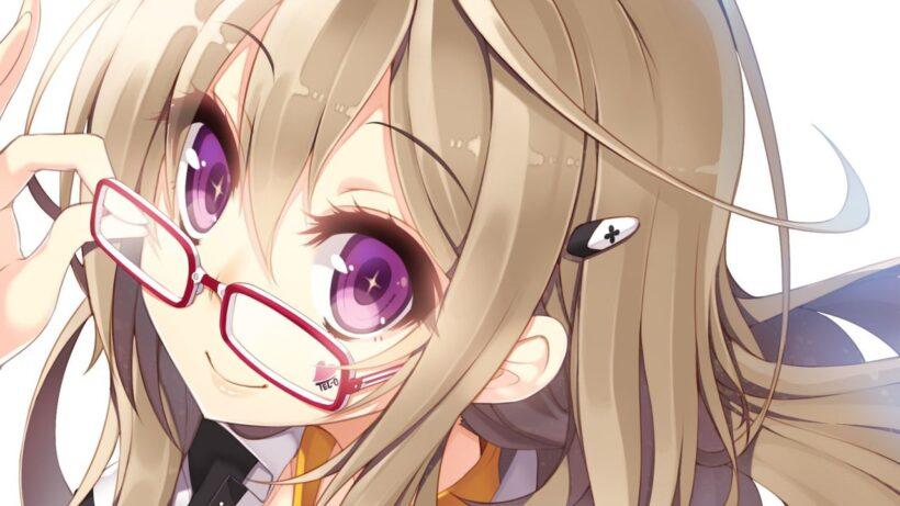 Hình ảnh anime girl đeo kính đáng yêu quá đi