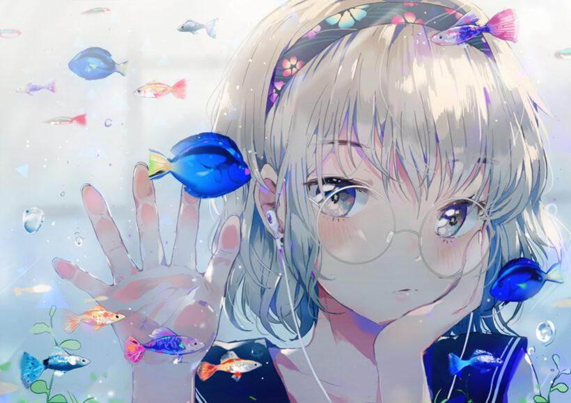 Hình ảnh anime girl đeo kính đẹp nhất