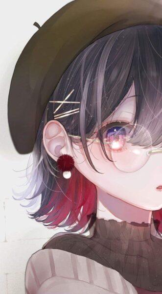 Hình ảnh anime girl đeo kính xinh xắn