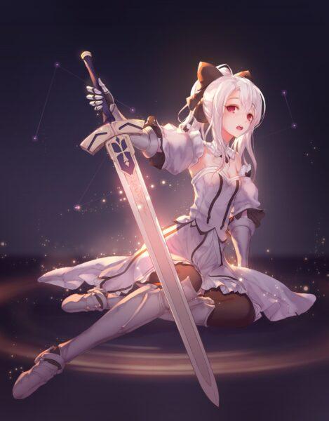 Hình ảnh anime girl tóc trắng chất nhất