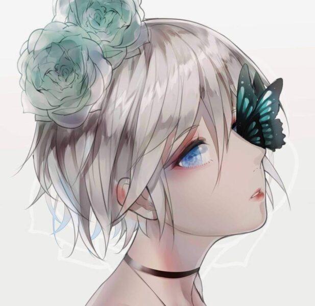 Hình ảnh anime girl tóc trắng lạnh lùng