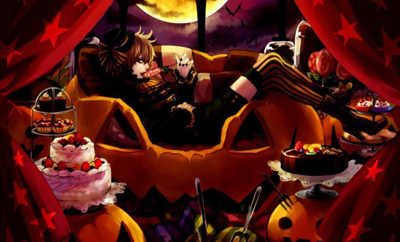 Hình ảnh anime Halloween cô đơn đẹp