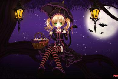 Hình ảnh anime Halloween đẹp, chất lượng Full HD