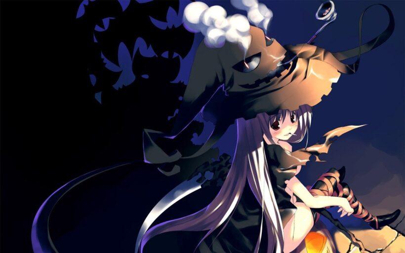 Hình ảnh anime Halloween đẹp buồn