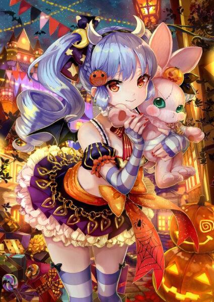 Hình ảnh anime Halloween đẹp cho điện thoại