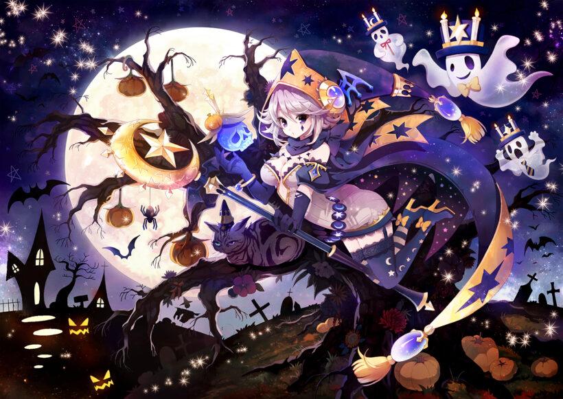 Hình ảnh anime Halloween đẹp, cute