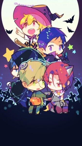Hình ảnh anime Halloween đẹp dễ thương