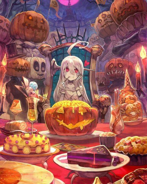 Hình ảnh anime Halloween đẹp tuyệt