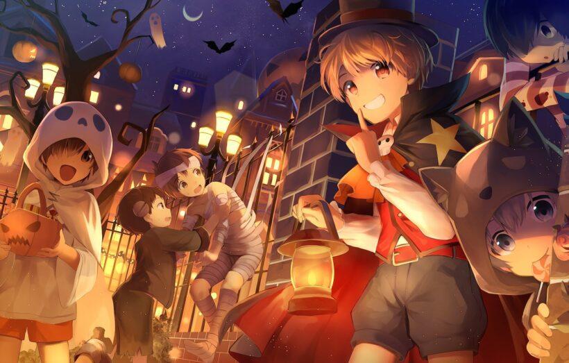 Hình ảnh anime Halloween vui nhộn
