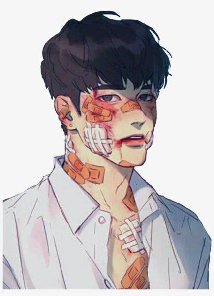 Hình ảnh anime Hàn Quốc bị thương