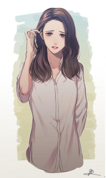 Hình ảnh anime Hàn Quốc mặc áo sơ mi