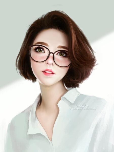 Hình ảnh anime Hàn Quốc tóc ngắn
