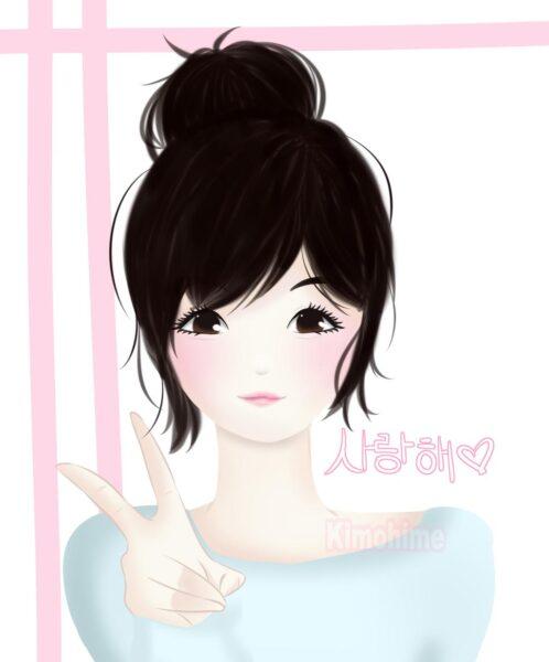 Hình ảnh anime Hàn Quốc xin chào đẹp