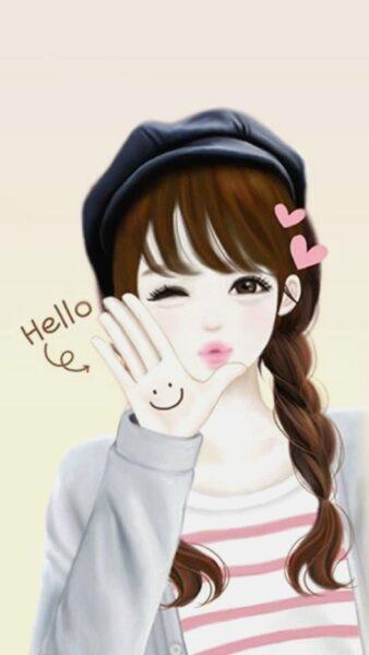 Hình ảnh anime Hàn Quốc xinh xắn hello
