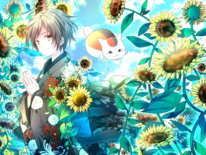 Hình ảnh anime hoa hướng dương quá đẹp