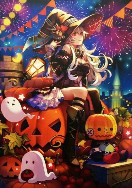 Hình ảnh anime lễ Halloween đẹp
