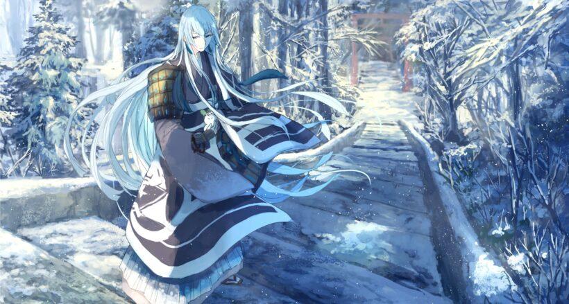 Hình ảnh anime mùa đông cổ trang