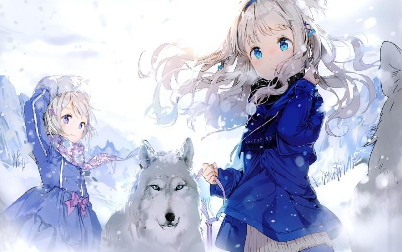 Hình ảnh anime mùa đông dễ thương nhất