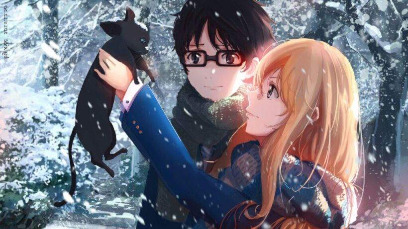 Hình ảnh anime mùa đông dễ thương và đẹp