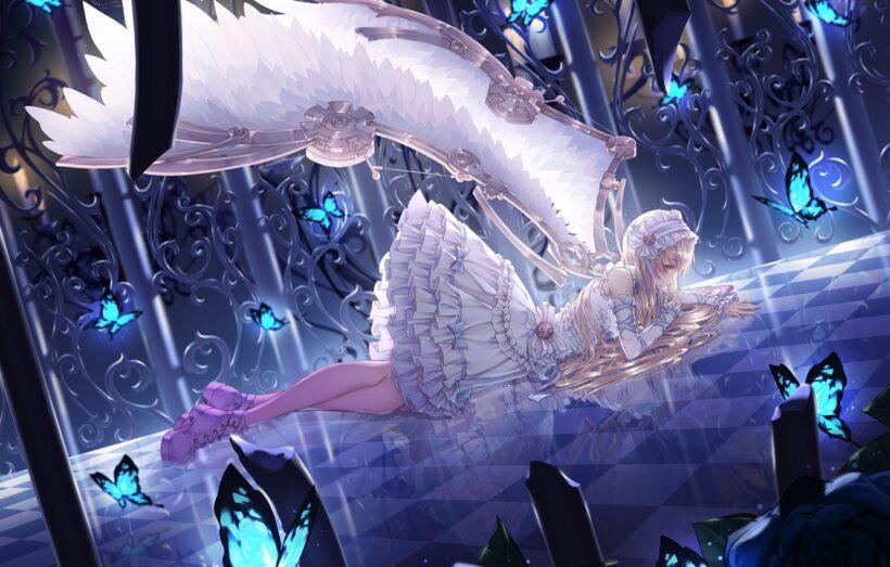 Hình ảnh anime thiên thần buồn đẹp