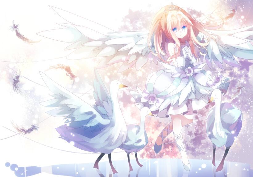 Hình ảnh anime thiên thần mắt xanh đẹp