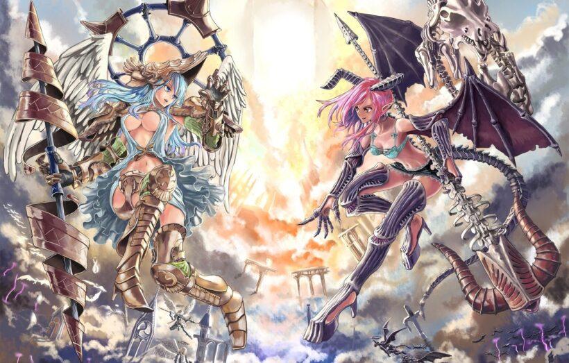 Hình ảnh anime thiên thần và ác quỷ