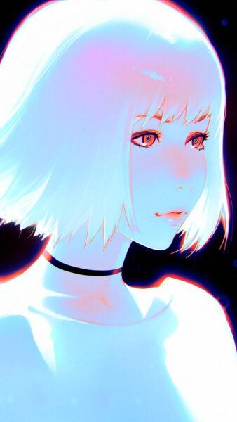 Hình ảnh anime tóc trắng Hàn Quốc