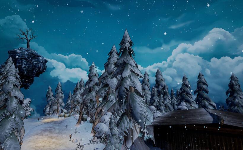 Hình ảnh anime tuyết phủ mùa đông
