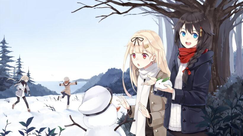Hình ảnh anime vui chơi mùa đông