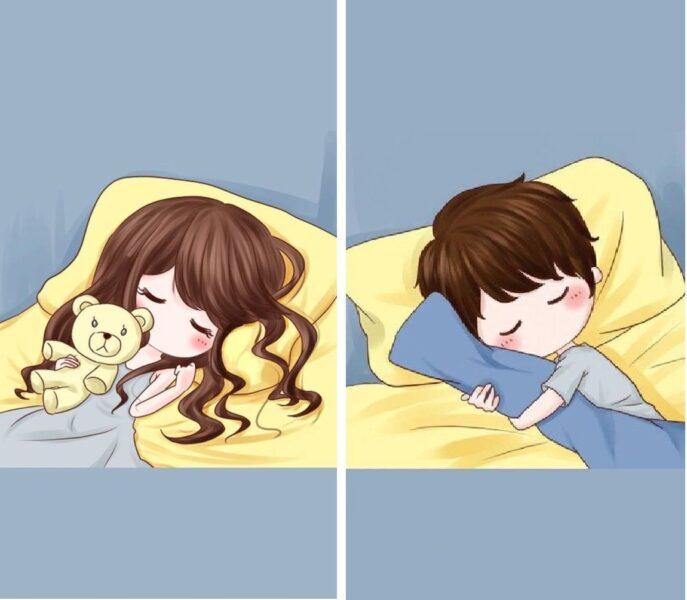 Hình ảnh avatar đôi chibi tình yêu