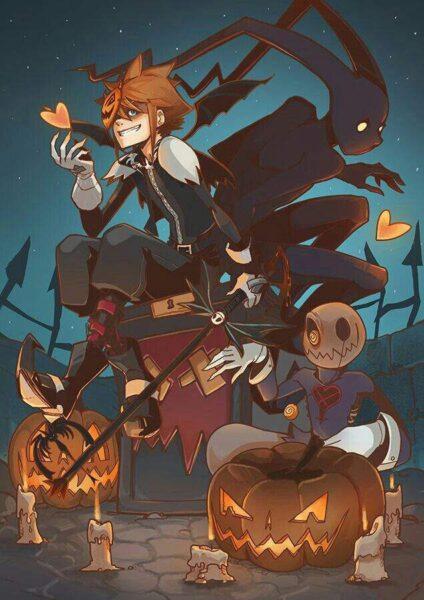 Hình ảnh boy anime Halloween đẹp