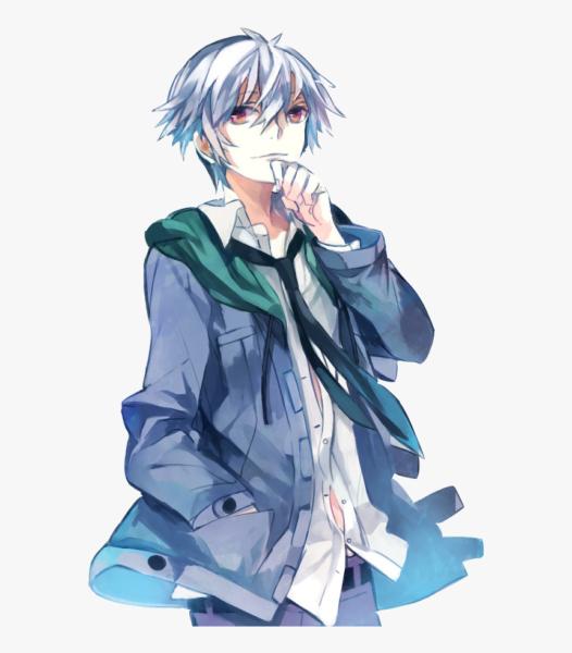 Hình ảnh boy anime tóc bạch kim