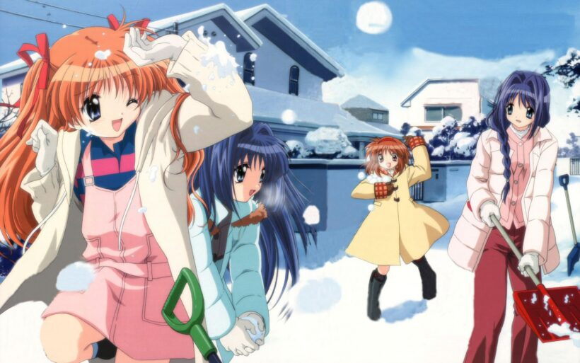Hình ảnh các anime vui chơi ở mùa đông