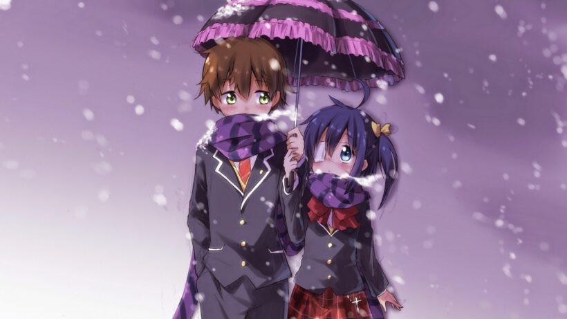 Hình ảnh cặp đôi anime mùa đông
