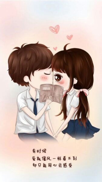 Hình ảnh chibi tình yêu cute, dễ thương
