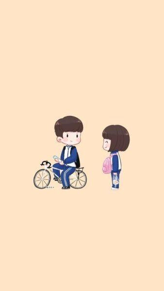 hình ảnh chibi tình yêu học sinh đẹp dễ thương