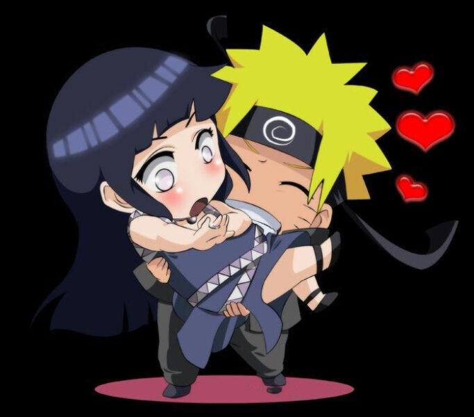 Hình ảnh chibi tình yêu Naruto và Hinata