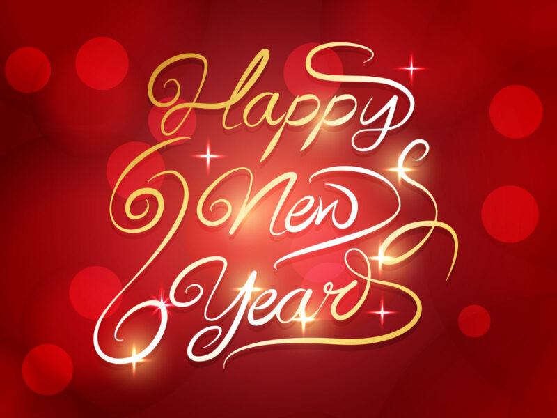 Hình ảnh chúc mừng năm mới đỏ đẹp