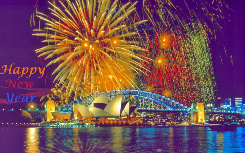 Hình ảnh chúc mừng năm mới tuyệt đẹp với pháo hoa